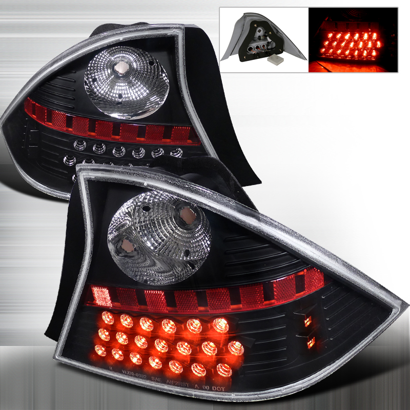 Honda Civic 2 Door 2001-2003 Black LED Tail Lights