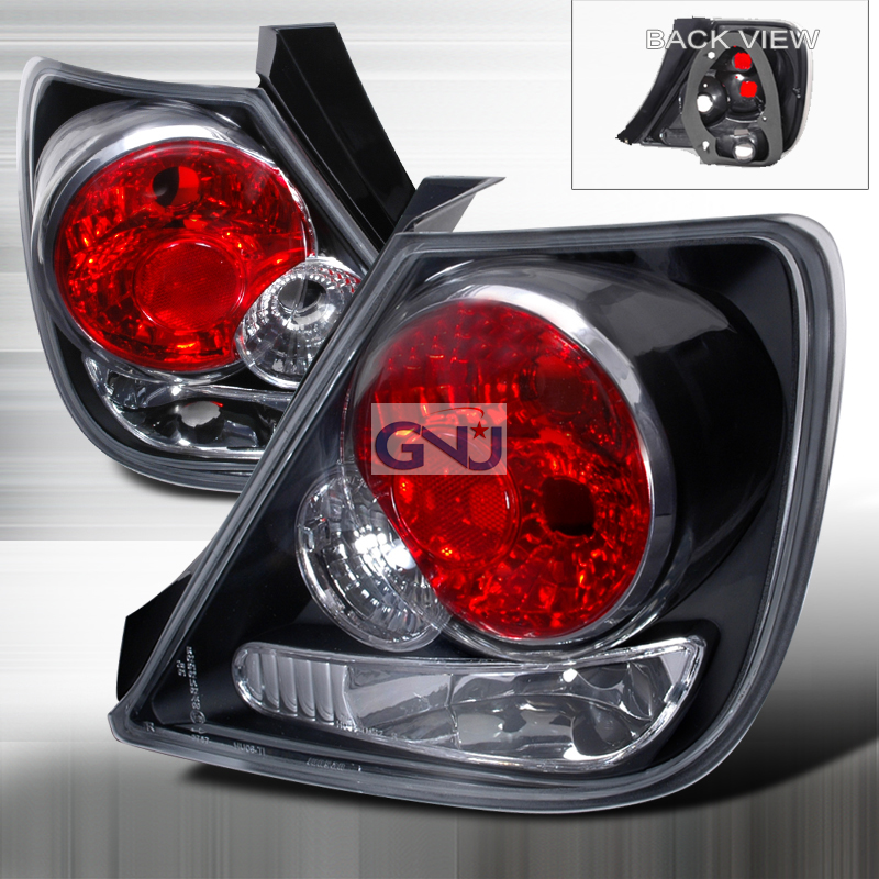 Honda Civic  2002-2003 Black Euro Tail Lights