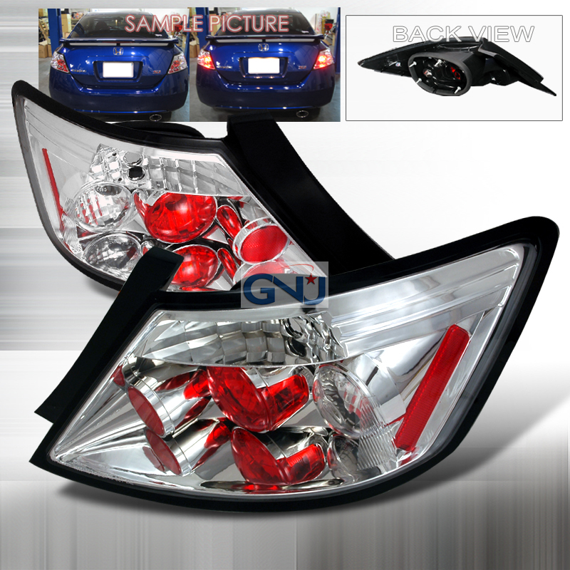 Honda Civic 2 Door 2006-2008 Chrome Euro Tail Lights
