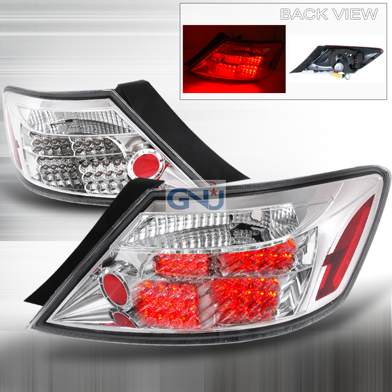 Honda Civic 2 Door 2006-2008 Chrome LED Tail Lights