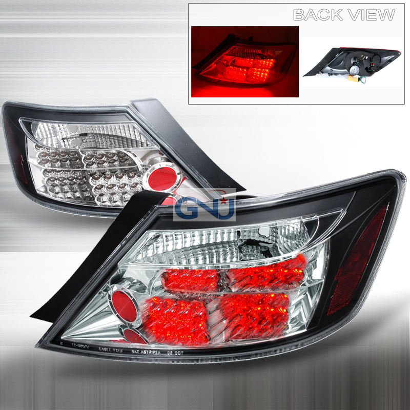 Honda Civic 2 Door 2006-2008 Black LED Tail Lights