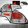 2008 Honda Civic 4 Door  Chrome LED Tail Lights 