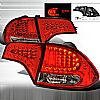 Honda Civic 4 Door 2006-2008 Chrome LED Tail Lights