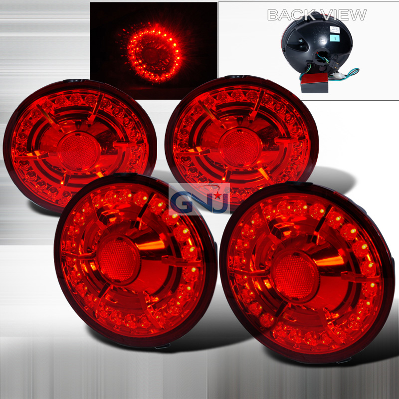 Chevrolet Corvette  2005-2007 Red LED Tail Lights
