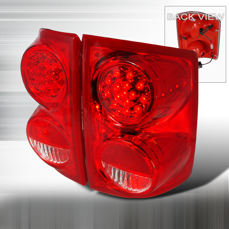 Dodge Dakota  2005-2007 Red LED Tail Lights
