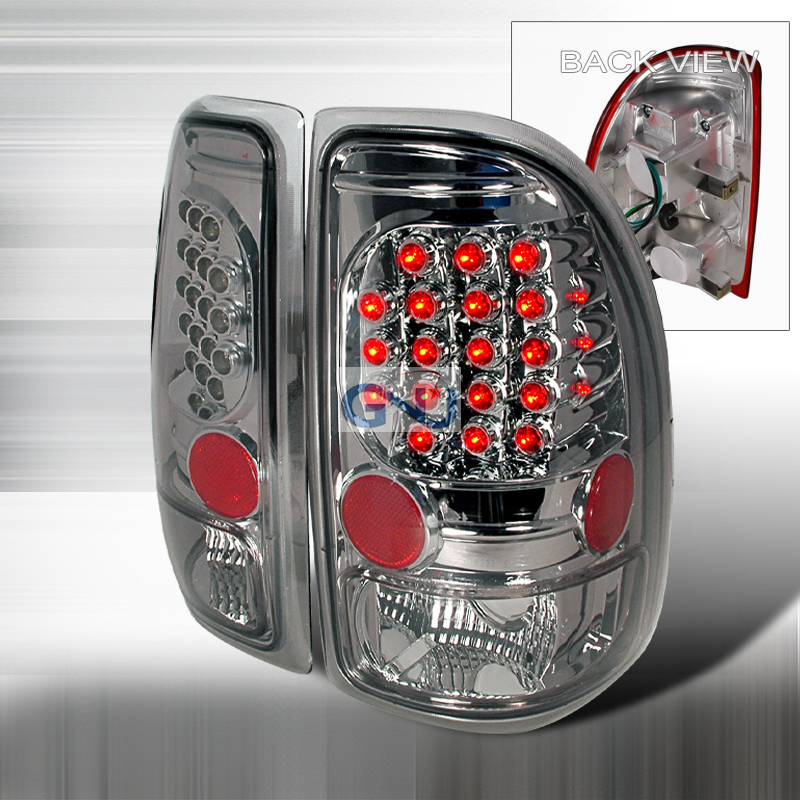 Dodge Dakota  1997-2004 Smoke LED Tail Lights