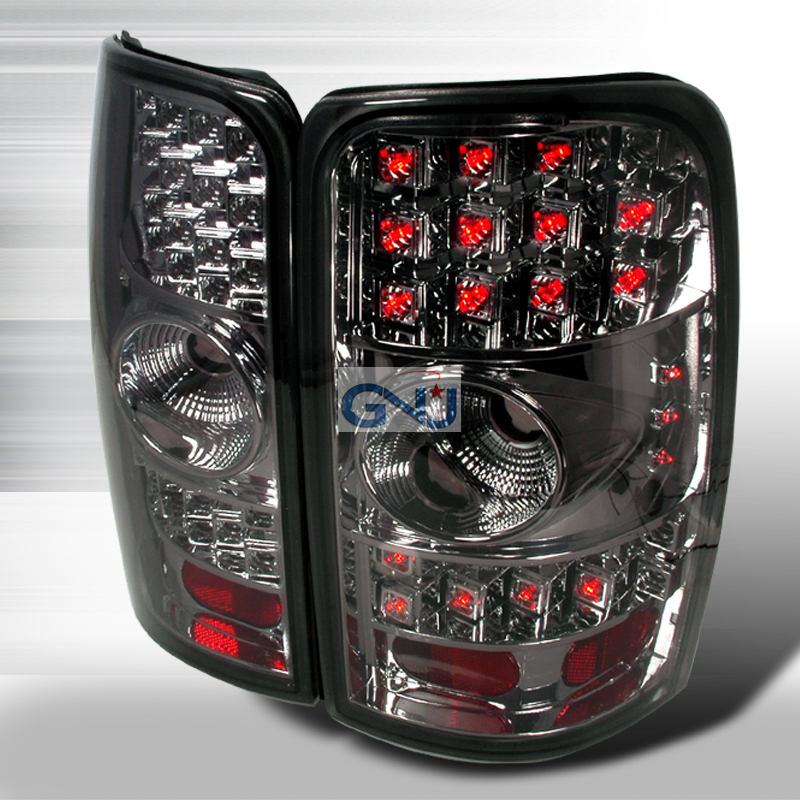 Gmc Yukon  2000-2006 Chrome W/ Smoked Lens LED Tail Lights