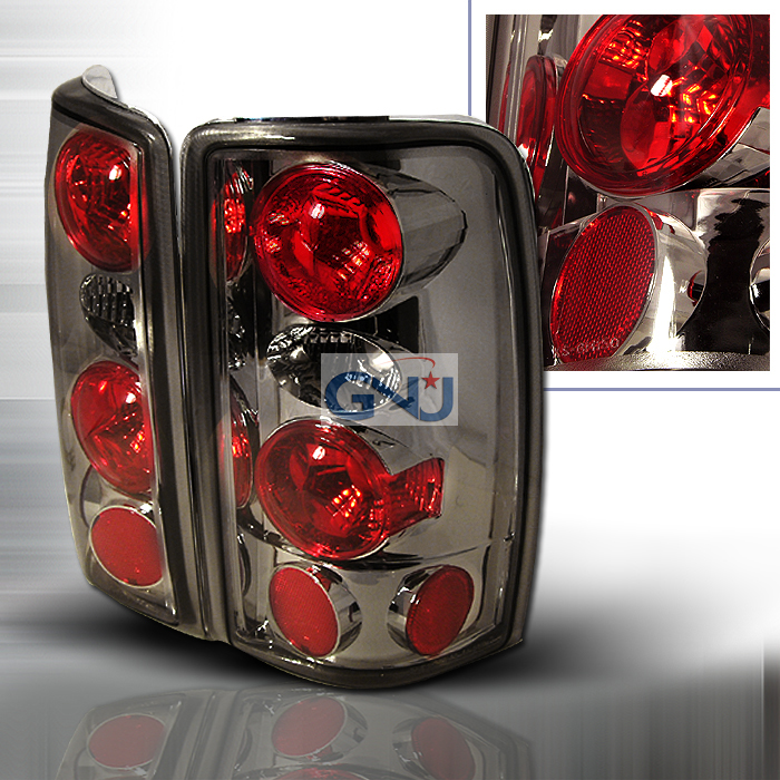 Chevrolet Tahoe  2000-2006 Smoke Euro Tail Lights
