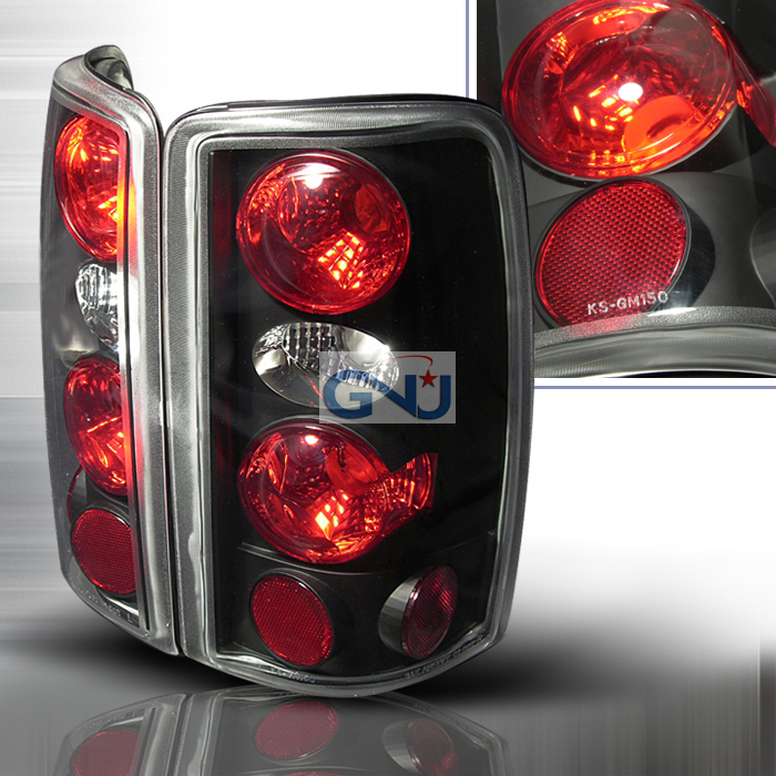 Gmc Yukon  2000-2006 Black Euro Tail Lights