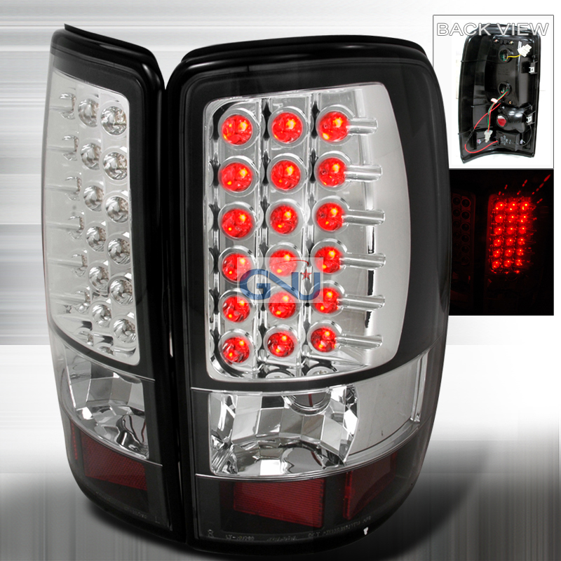 Chevrolet Tahoe  2000-2006 Black LED Tail Lights