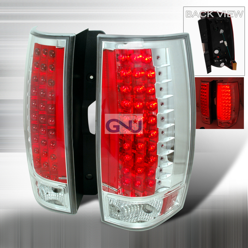 Gmc Yukon  2007-2010 Chrome LED Tail Lights