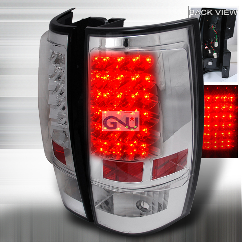 Chevrolet Tahoe 2007-2011 LED Tail Lights -  Chrome