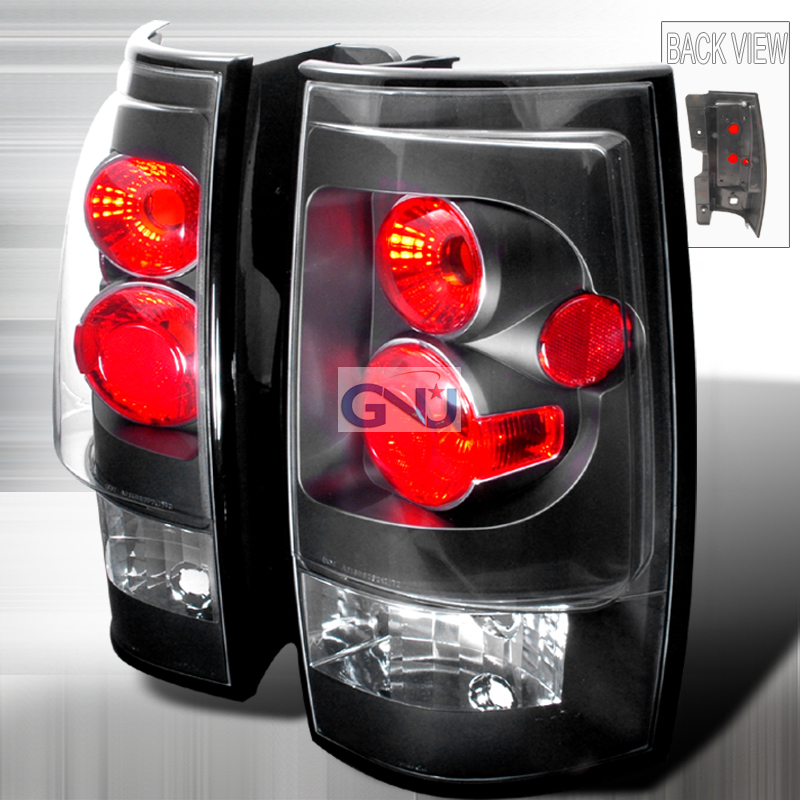 Gmc Yukon  2007-2010 Black Euro Tail Lights