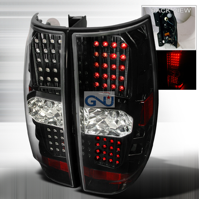 Gmc Yukon  2007-2010 Black LED Tail Lights
