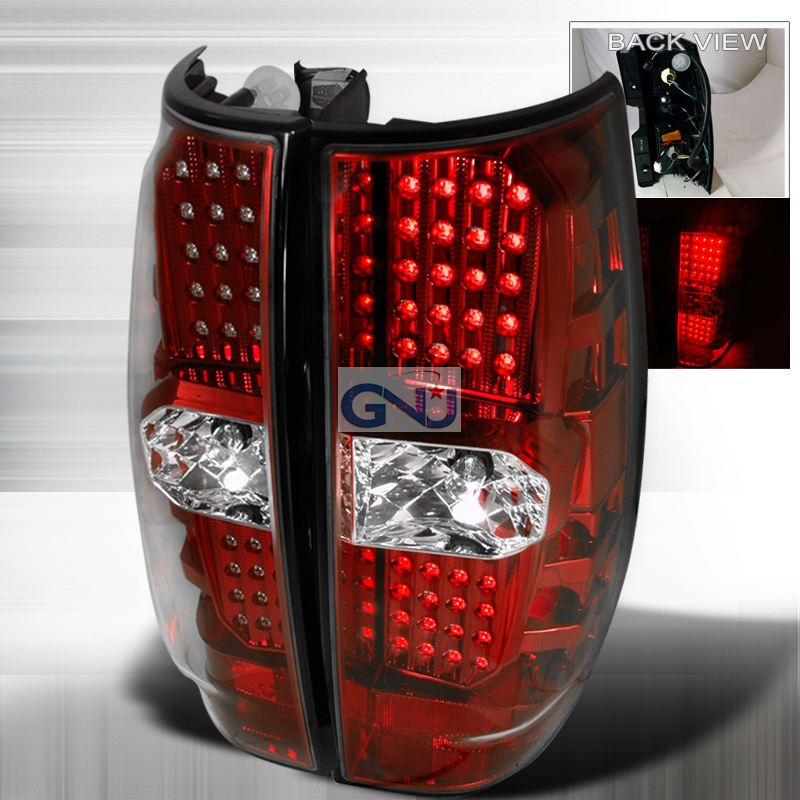 Gmc Yukon  2007-2010 Red LED Tail Lights