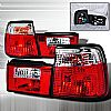 1990 Bmw 5 Series   Red / Clear Euro Tail Lights