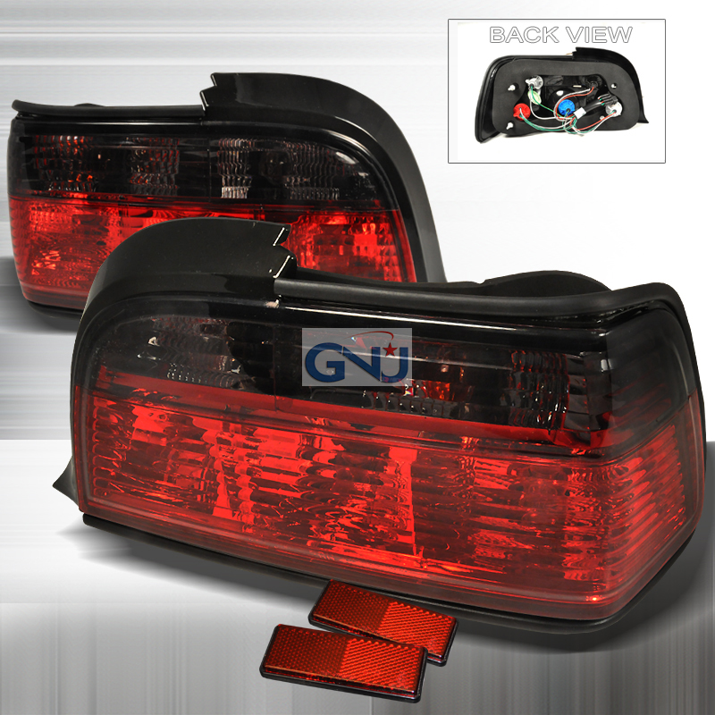 Bmw 3 Series 2 Door 1992-1998 Red / Smoke Euro Tail Lights