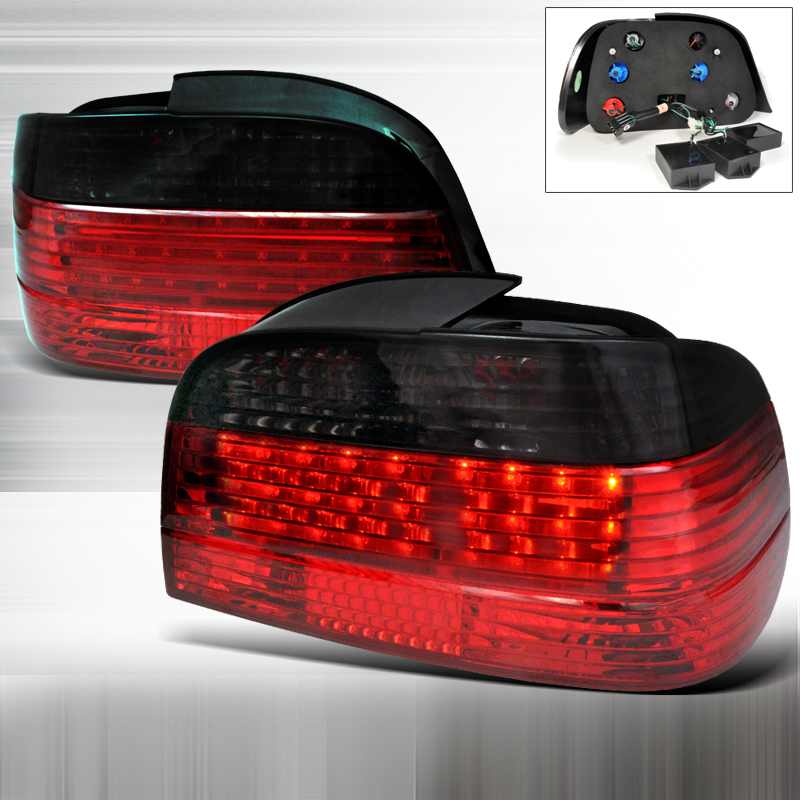 Bmw 7 Series E38 1995-2001 Red / Smoke LED Tail Lights