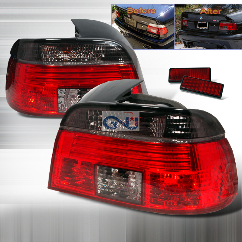 Bmw 5 Series E39  1999-2003 Euro Tail Lights - Smoke
