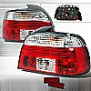 Bmw 5 Series  1997-2000 Red / Clear Euro Tail Lights