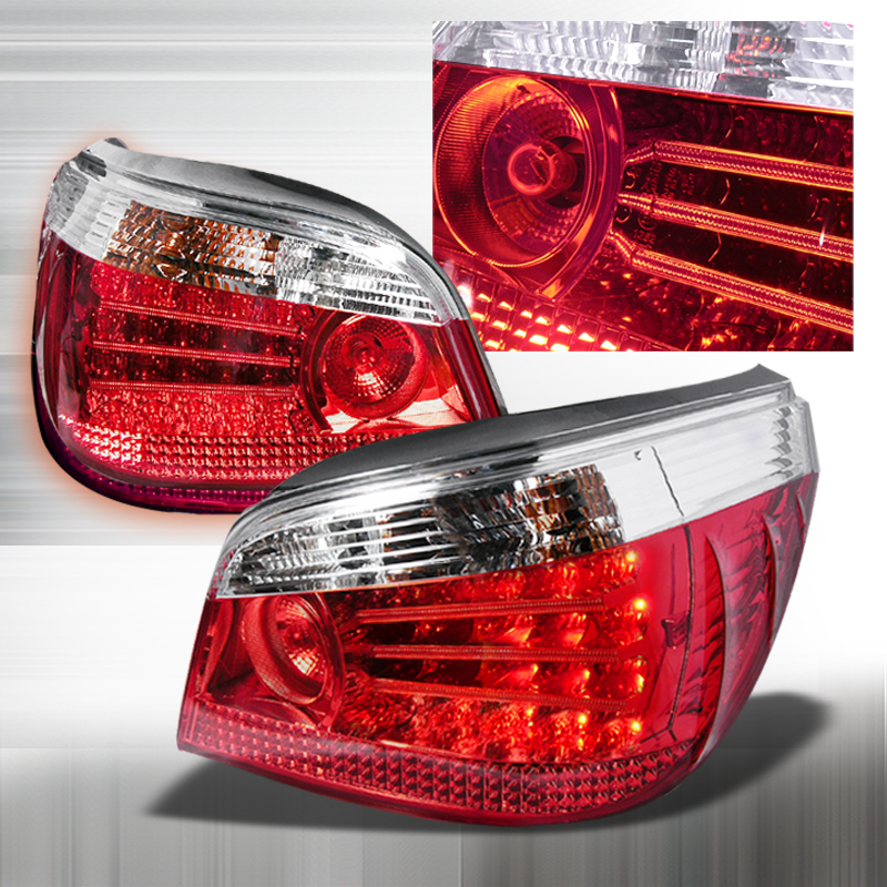 Bmw 5 Series E60 2004-2007 Chrome LED Tail Lights
