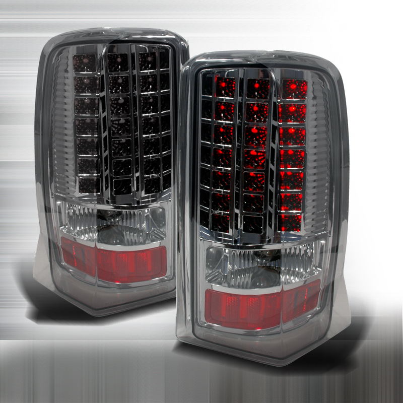 Cadillac Escalade  2002-2006 Chrome LED Tail Lights
