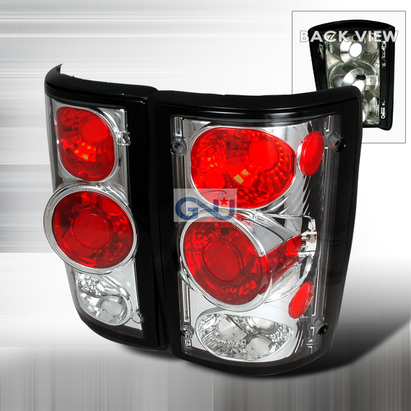 Ford Excursion  2000-2003 Chrome Euro Tail Lights