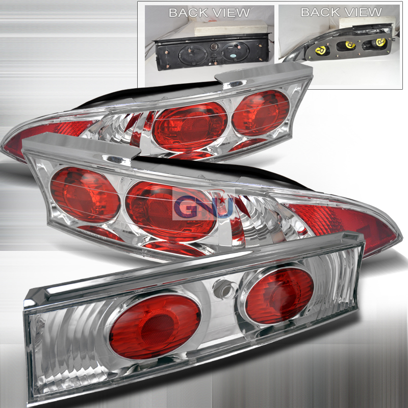 Mitsubishi Eclipse  1995-1999 Chrome Euro Tail Lights