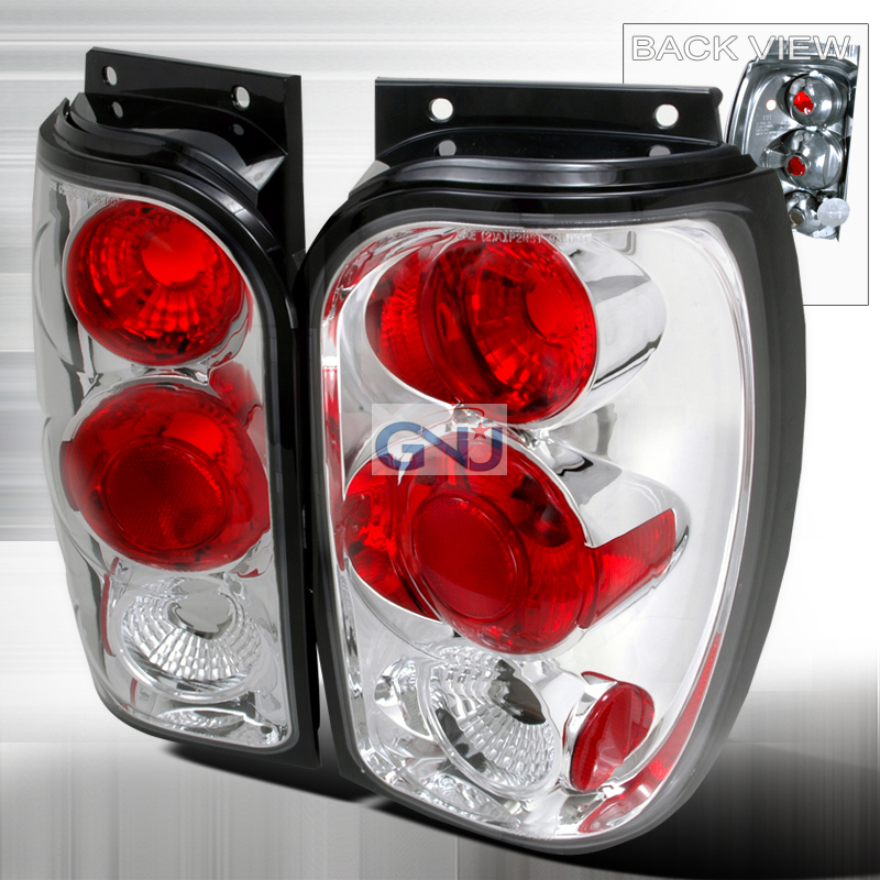 Ford Explorer  1998-2001 Chrome Euro Tail Lights