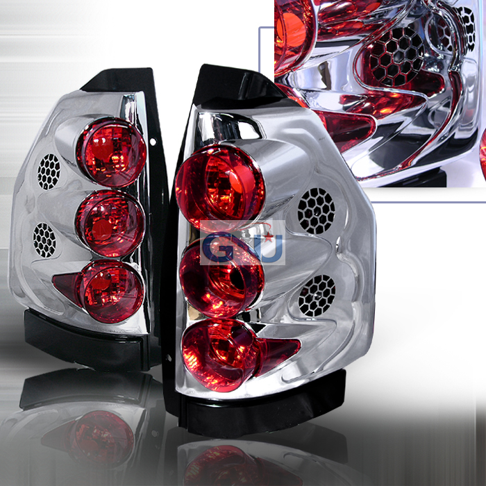 Gmc Envoy  2002-2006 Chrome Euro Tail Lights