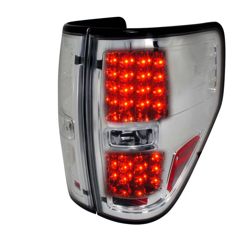 Ford F150  2009-2012 Chrome LED Tail Lights