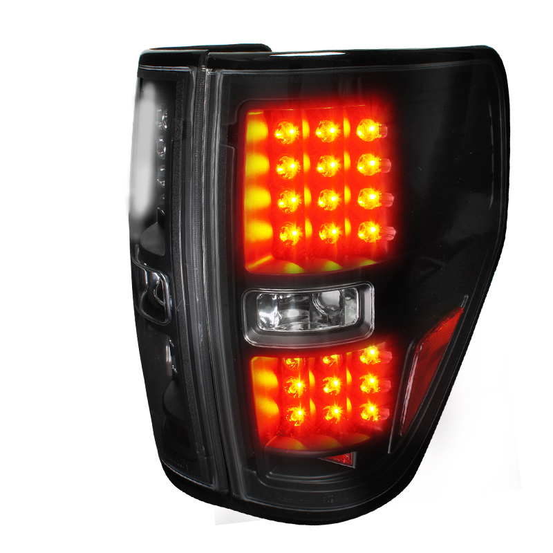 Ford F150  2009-2012 Black LED Tail Lights