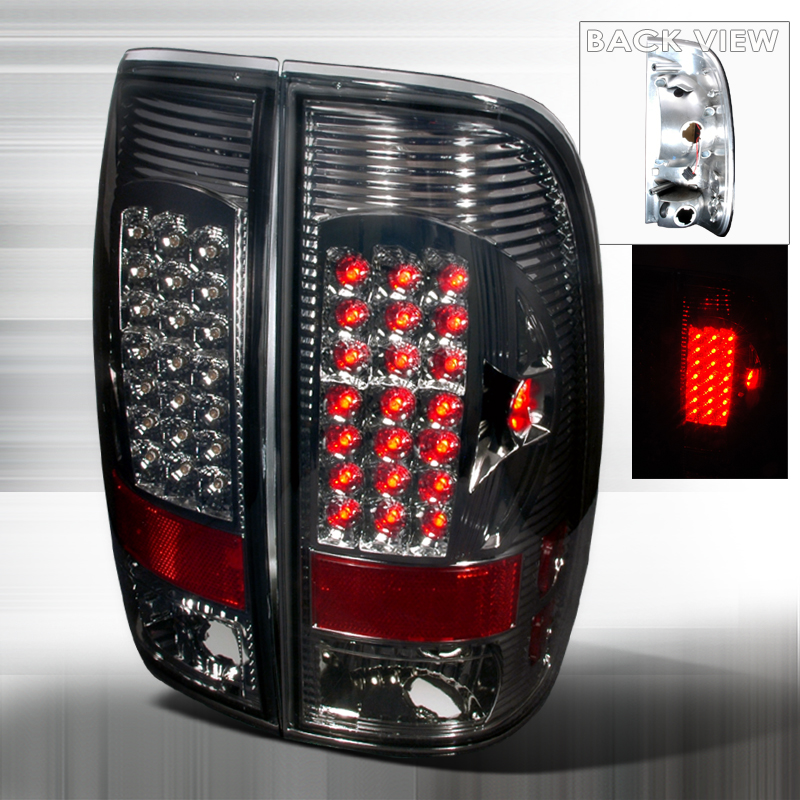 Ford Super Duty  1999-2007 Smoke LED Tail Lights