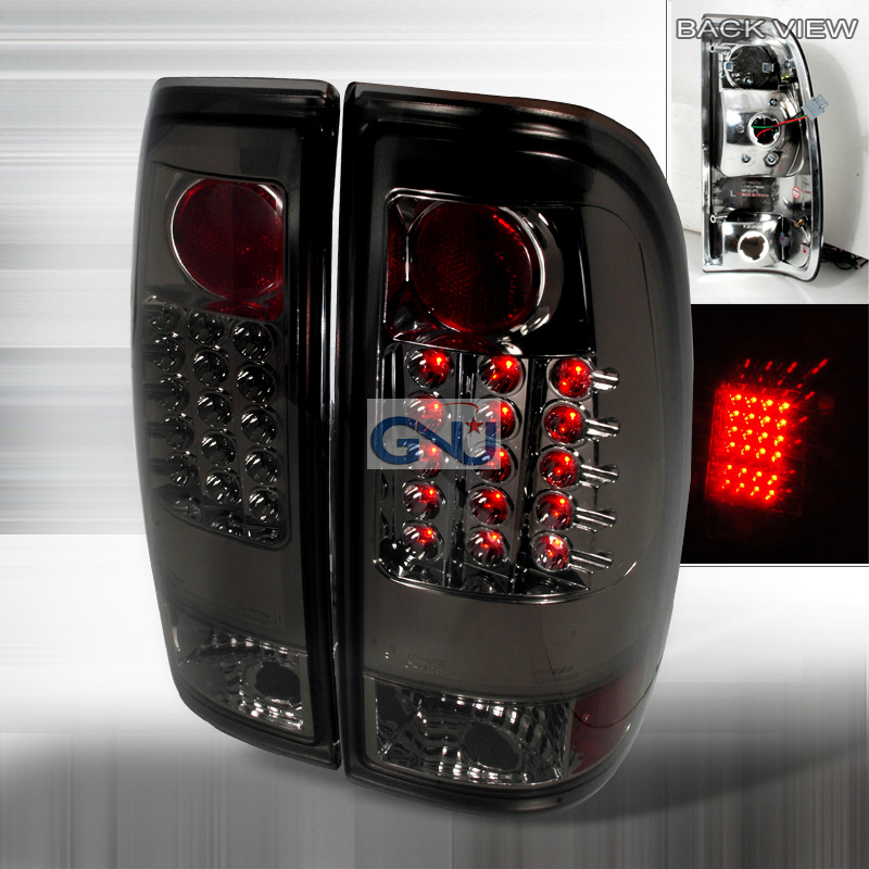 Ford F150  1997-2003 Smoke LED Tail Lights