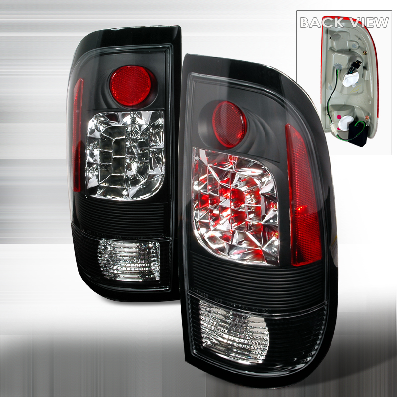 Ford Super Duty  1999-2007 Black LED Tail Lights