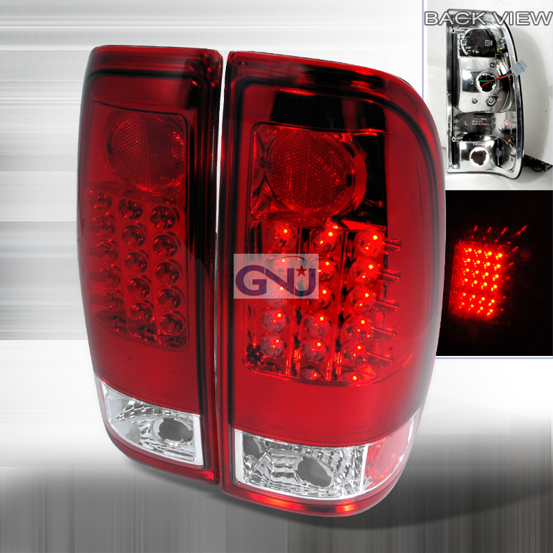 Ford F150  1997-2003 Red LED Tail Lights
