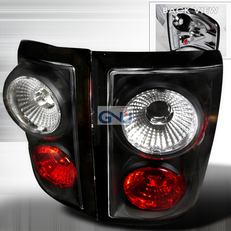Ford F150  2001-2003 Black Euro Tail Lights