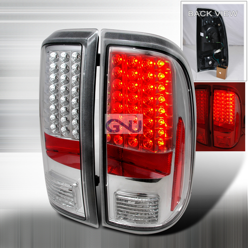 Ford Super Duty  2008-2011 Chrome LED Tail Lights