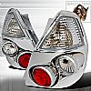 Honda Honda Fit  2006-2007 Chrome Euro Tail Lights