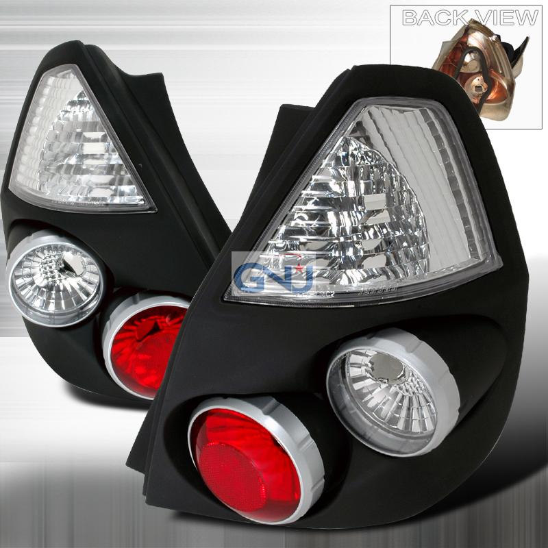 Honda Honda Fit  2006-2008 Black Euro Tail Lights