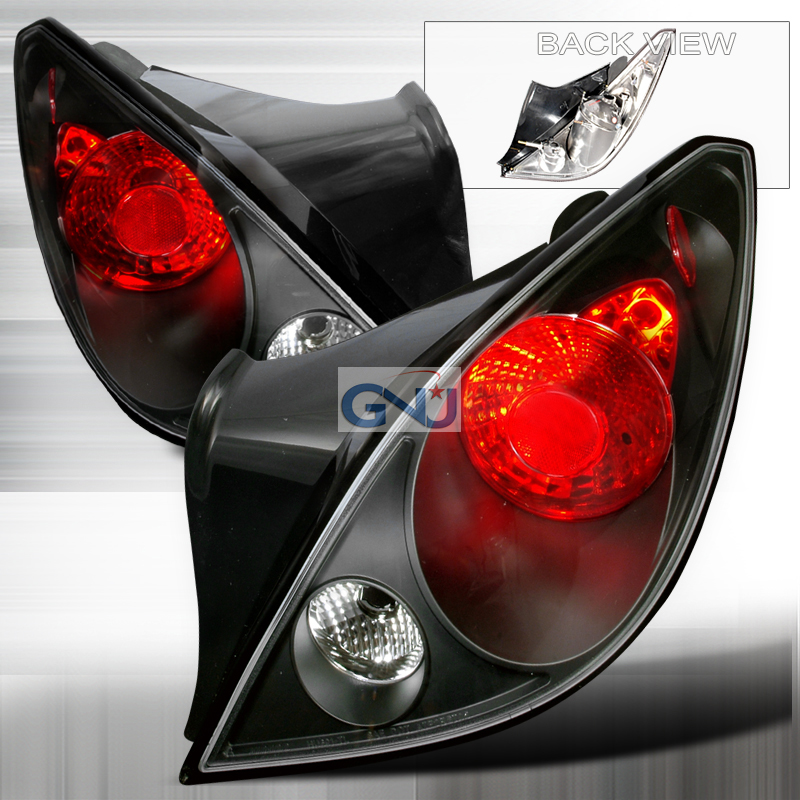 Pontiac G6   2005-2008 Euro Tail Lights - Black  Coupe Only!