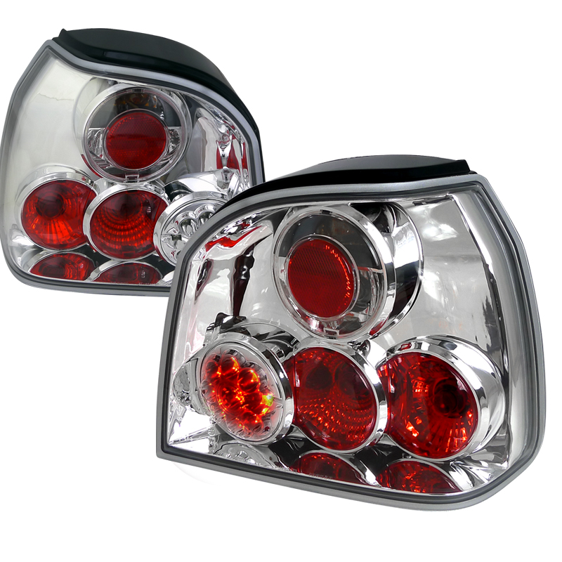 Volkswagen Golf  1993-1998 Chrome LED Tail Lights