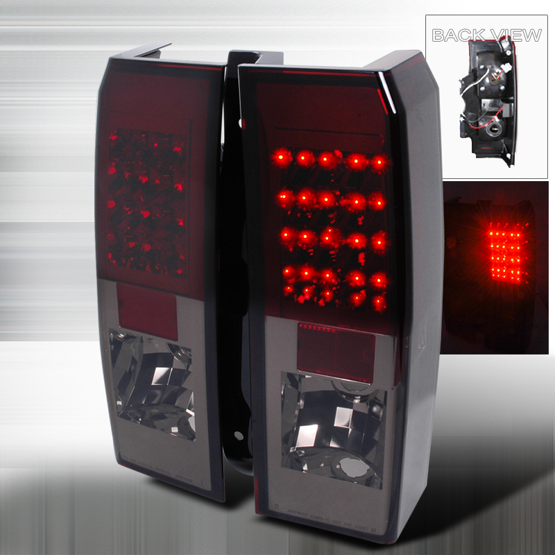 Hummer H3  2005-2010 Smoke LED Tail Lights