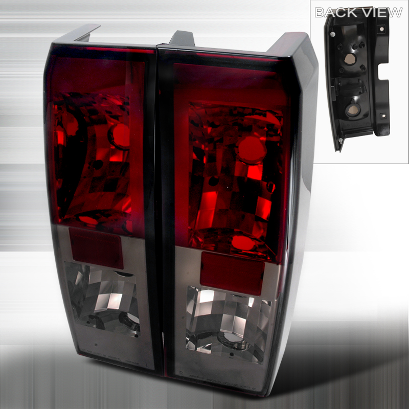Hummer H3  2005-2010 Red / Smoke Euro Tail Lights