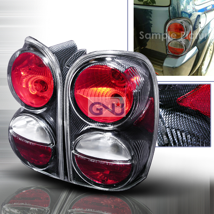 Jeep Liberty   2002-2004 Euro Tail Lights - Chrome
