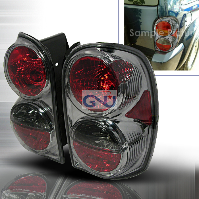 Jeep Liberty  2002-2004 Smoke Euro Tail Lights