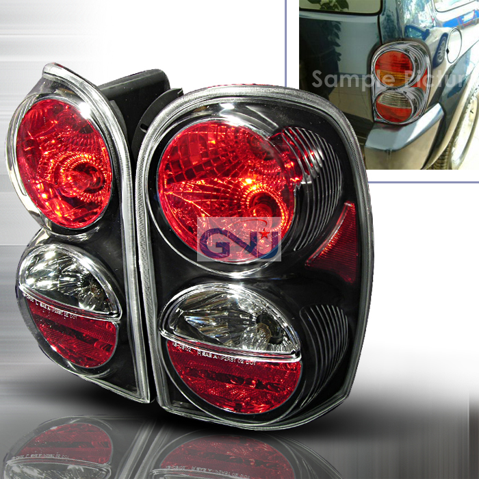 Jeep Liberty  2002-2004 Black Euro Tail Lights