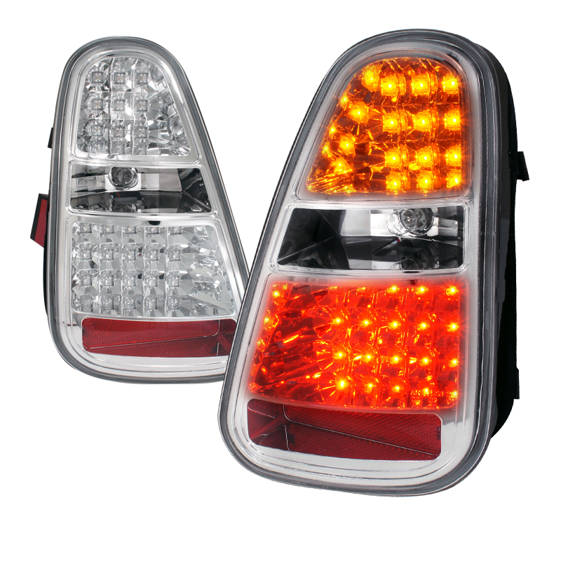 Mini Cooper  2005-2006 Chrome LED Tail Lights