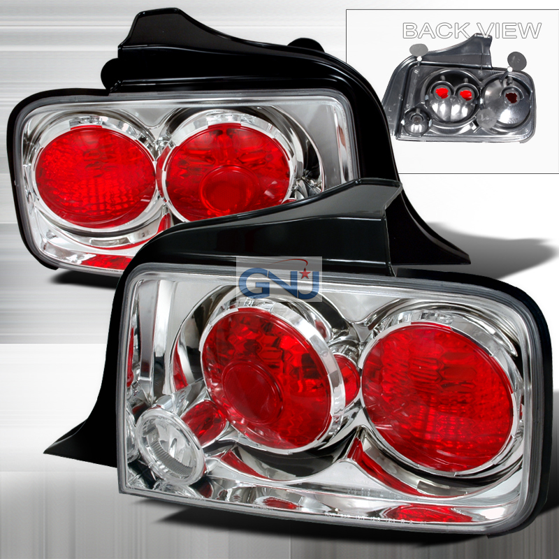 Ford Mustang  2005-2009 Chrome Euro Tail Lights