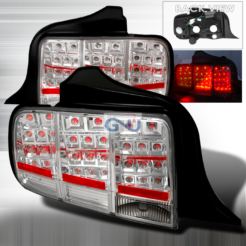 Ford Mustang  2005-2009 Chrome LED Tail Lights
